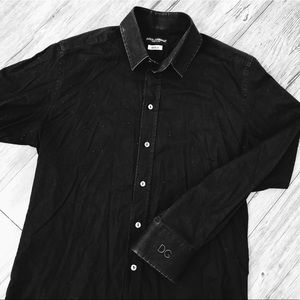 Black Dolce and Gabbana Button Up